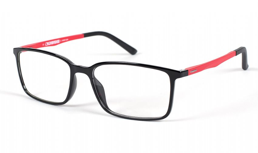 Eyecroxx Prescription Glasses 444 Black/red 5545